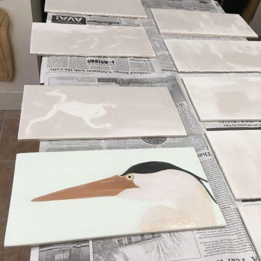 Heron-Tiles-Sgraffito-Frog-Song-Designs-Trzaskos-2017-img5517