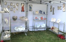 Frog Song Designs booth at Bar Harbor Fine Arts Festival