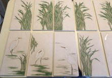 Bisque fired tiles