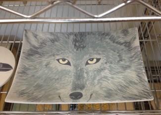 Photo of work in progress, drying platter