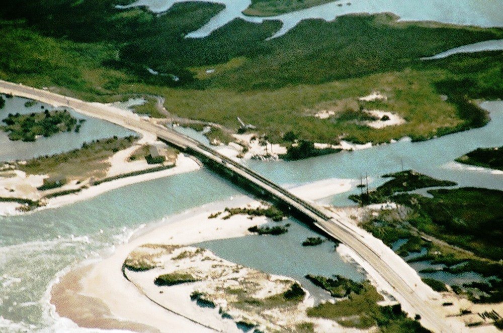 Aerial Photos of Rodanthe, NC New Bridge Over Inlet   (1/3)