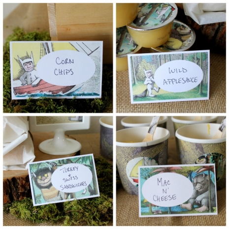 Where The Wild Things Are Food Labels Place Cards PDF