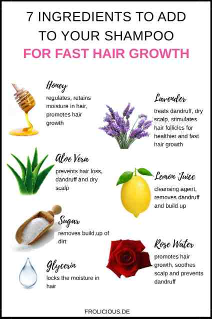 Ingredients for Fast Hair Growth_Pinterest