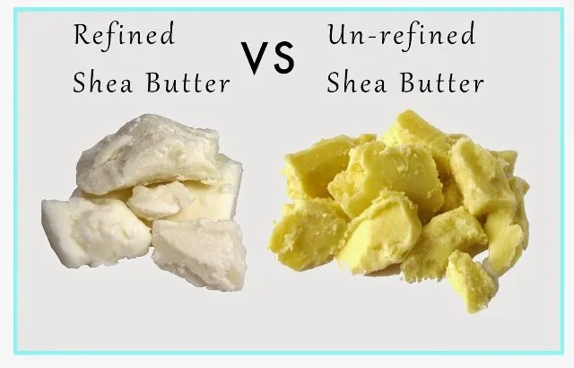 Refined compare to unrefined Shea butter