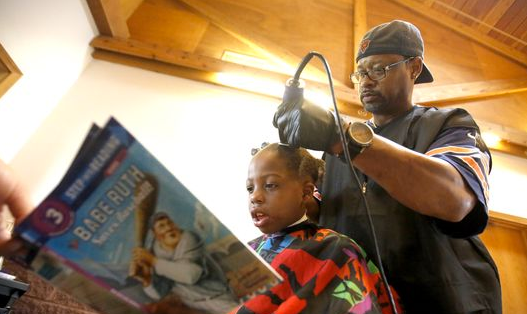 A free hair cut for reading