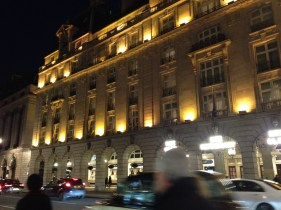Our evening view of The Ritz!