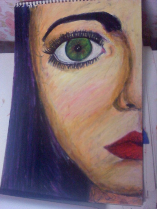 """""""Idealistic"""" Sharpie and Oil Pastel 2011"""