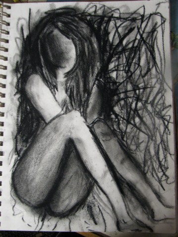 """""""Anxiety"""" Charcoal 2012"""