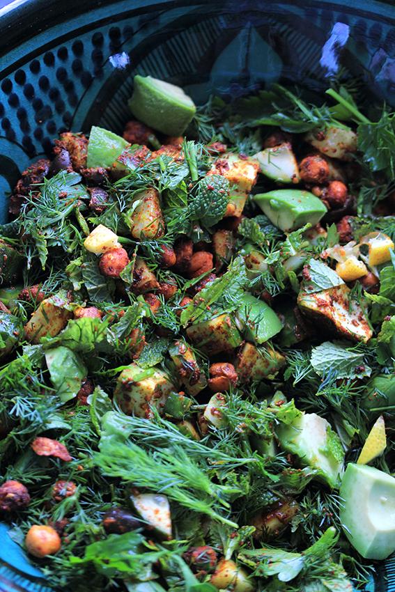 Kichererbsen-Kräuter Salat-112
