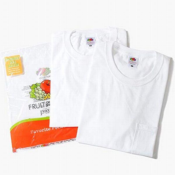 フルーツオブザルームのポケットTシャツ