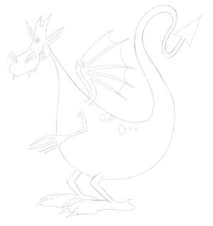 dragon simple drawings drawing learn example draw