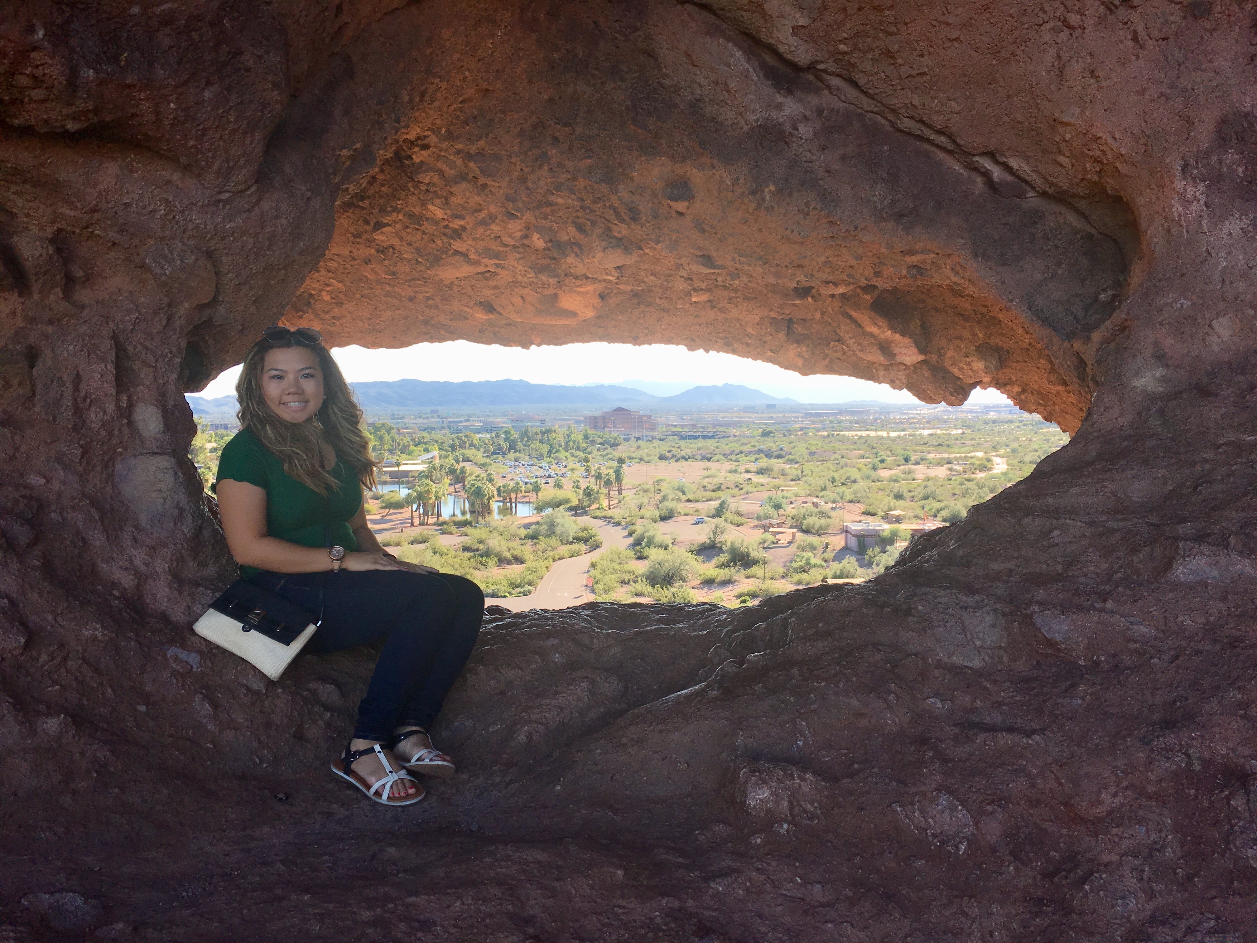 Phoenix, Arizona: Hole-In-The-Rock, a Gift from the Prehistoric People of the Sonoran Desert