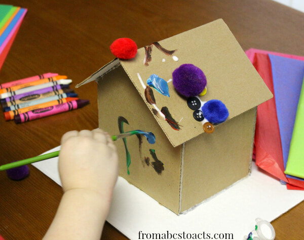Invitation To Create Cardboard Gingerbread House From ABCs To ACTs