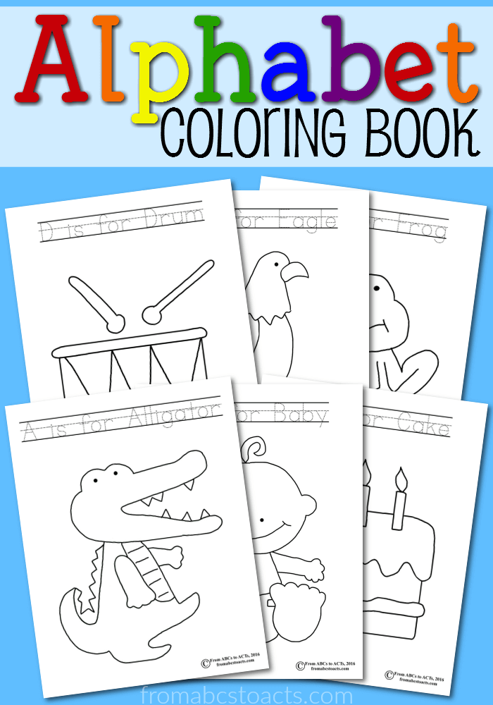 Printable Alphabet Coloring Book   From ABCs to ACTs   abc coloring pages for kindergarten
