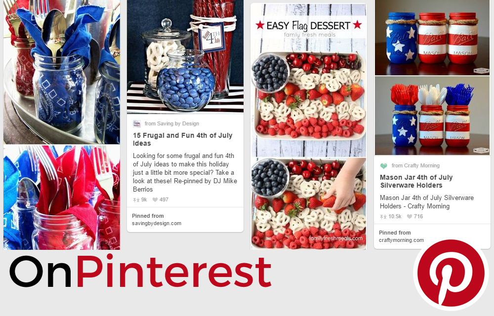 Ideas from Pinterest for the 4th of July From Anna's Kitchen (www.fromannaskitchen.com)