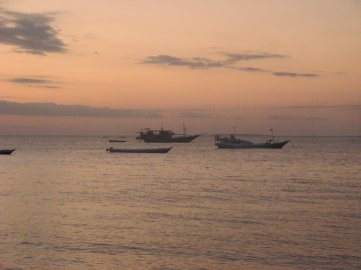 Things you don't see everyday - boats floating on open sea