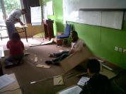 Ruangan kelas menjadi rusuh - bak kapal pica!