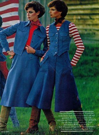 denim skirt 1970s