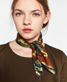 Camouflage Bandana Style Scarf