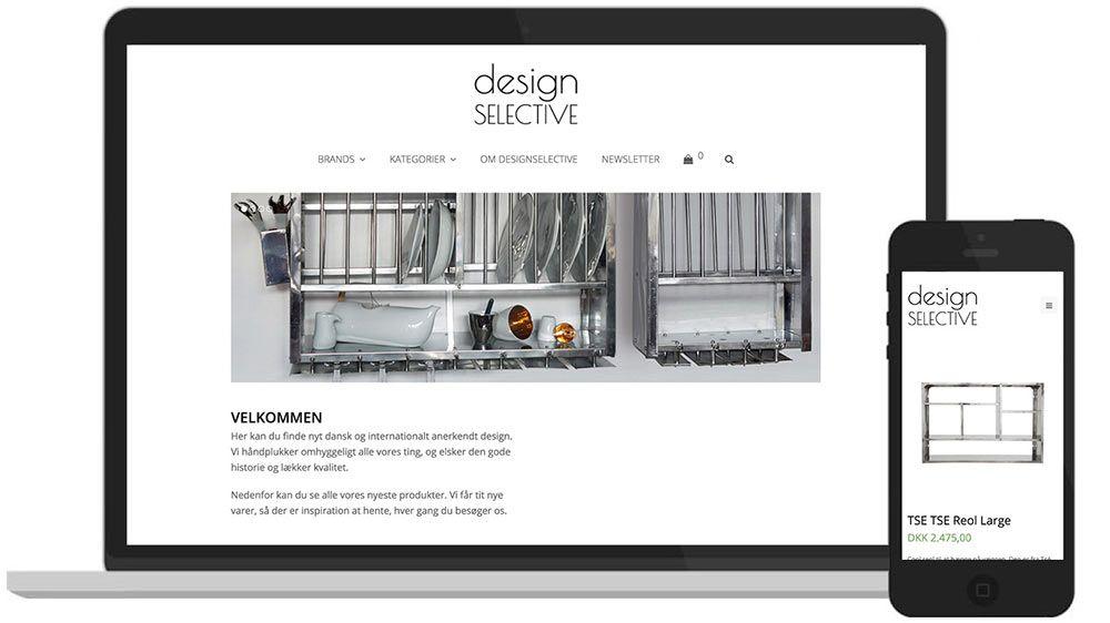 WordPress-hjemmeside: Webshop