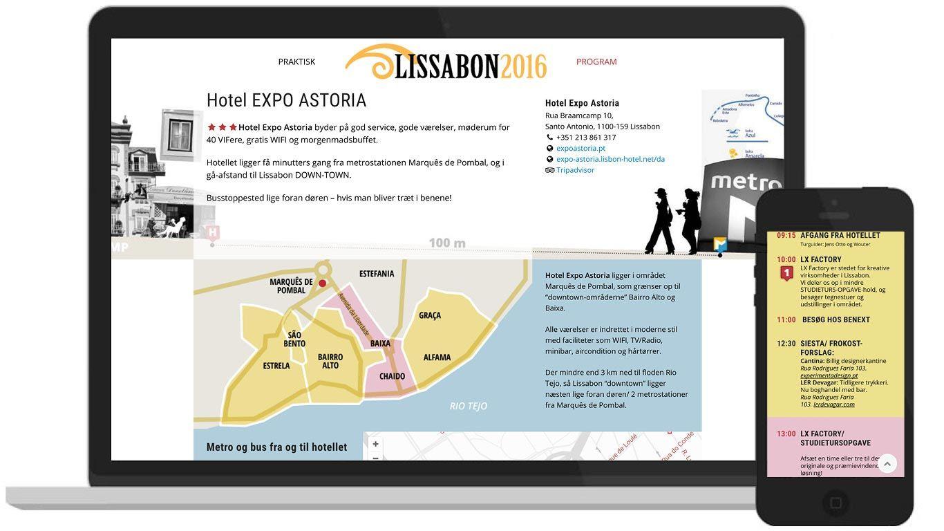 Wordpress-hjemmeside - Visuelt Forum Lissabon