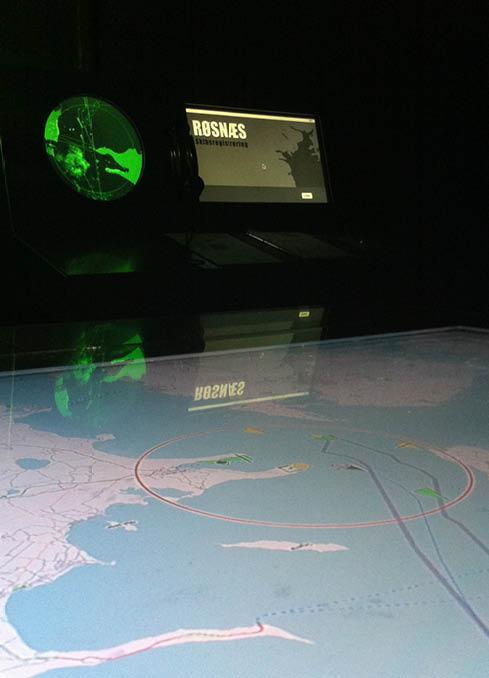 Røsnæs - interaktiv installation i Vågehøjbunkeren