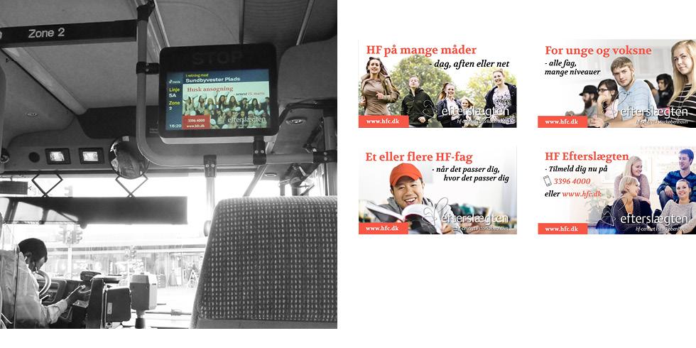 HF Efterslægten - bus-reklame