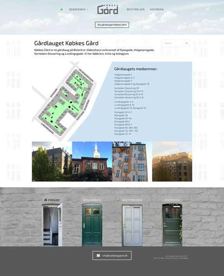 WordPress: Købkes Gård/ forside