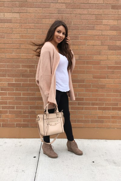 Fall Vibes Pink Cardigan