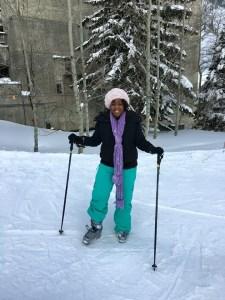 Charlene Dior Skiing