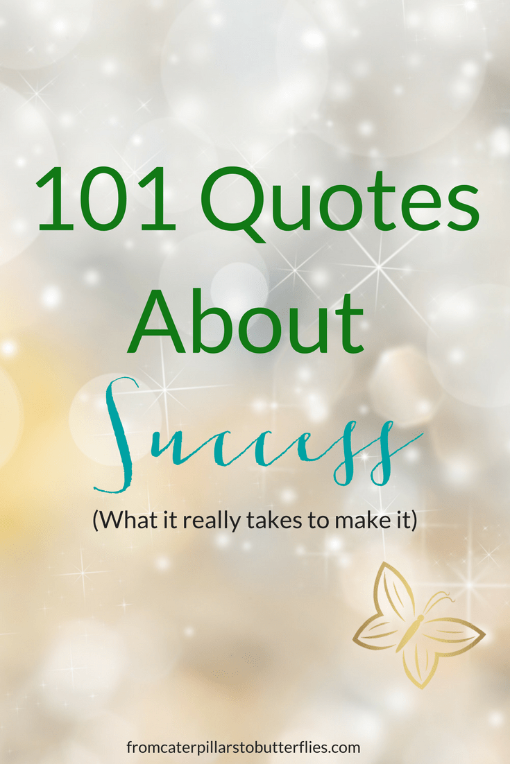 101 Quotes About Success From Caterpillars To Butterflies