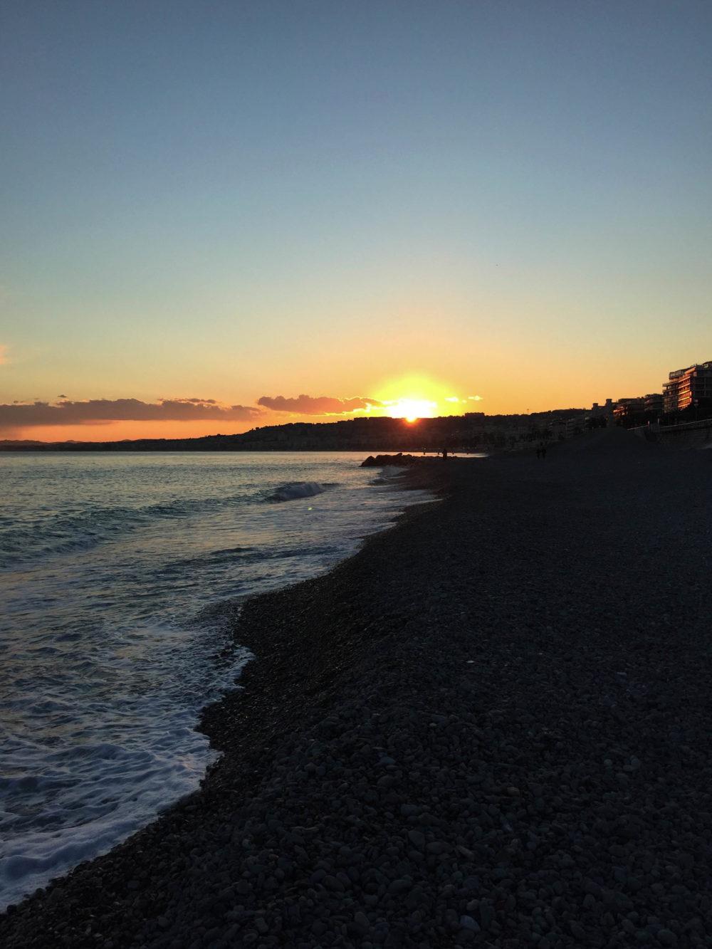 Coucher de soleil dans le sud Nice