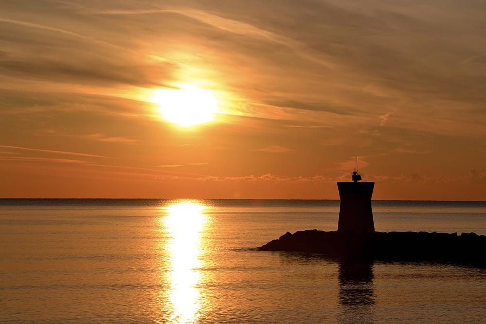 Marina baie Balagne coucher de soleil