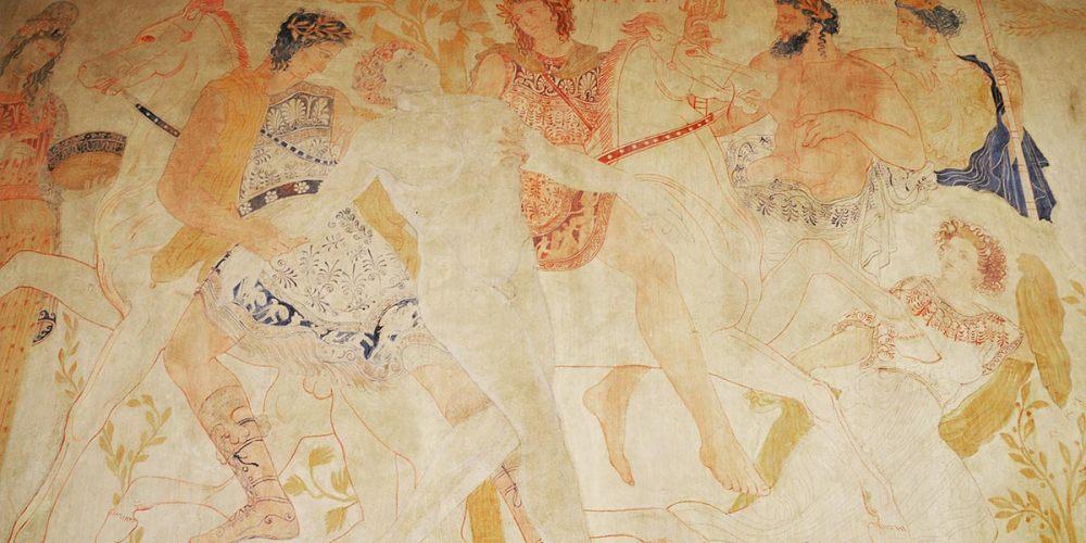 fresque-villa-mur-grecque-kerylos-beaulieu
