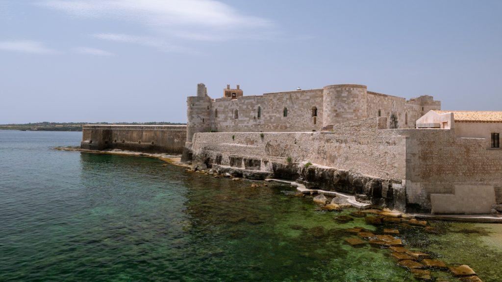 Le Castello Maniace sur l'île d'Ortygie à Syracuse