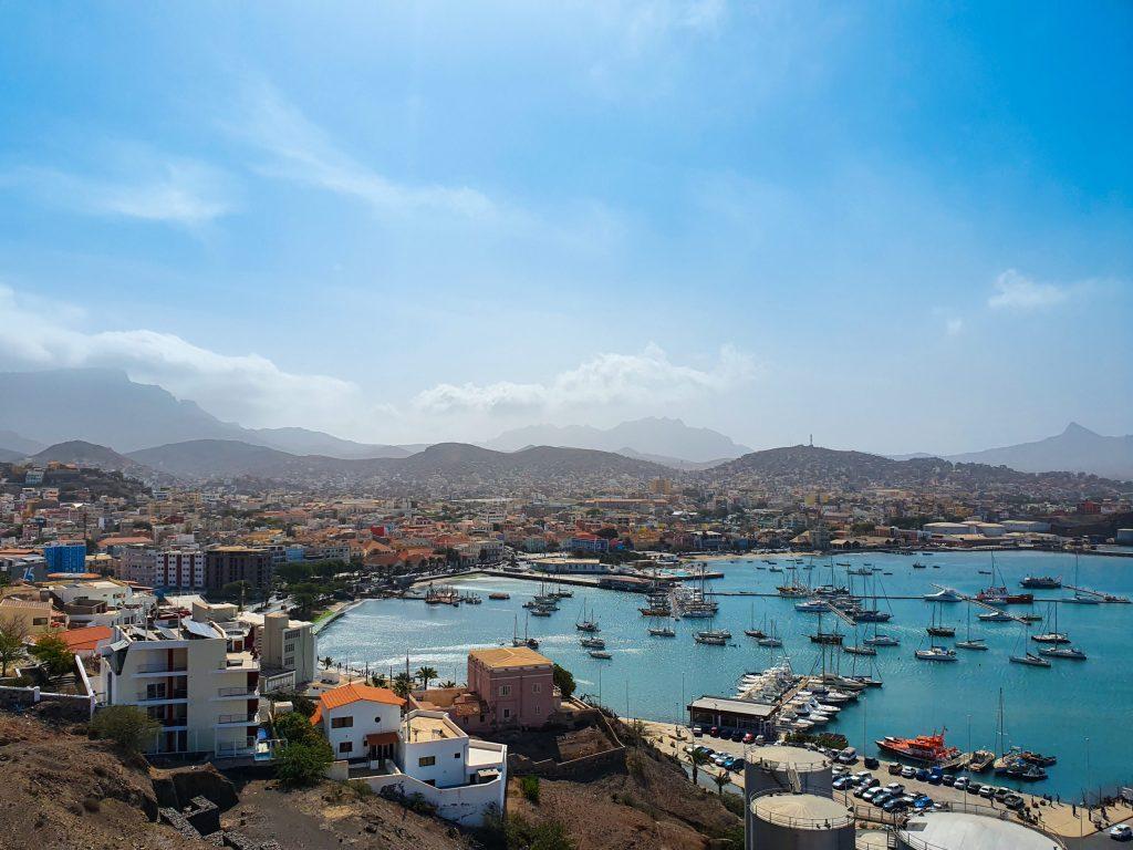 Mindelo, capitale de l'île de Sao Vicente au Cap Vert
