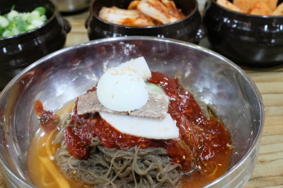 Cold noodles, very big portion. Apparently it's a side dish for a group.