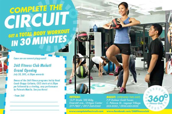 30-MINUTE WORKOUT: Circuit Training At The 360˚ Fitness