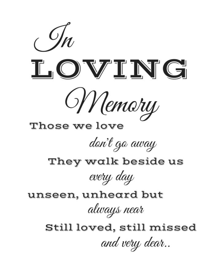 In Loving Memory (1)