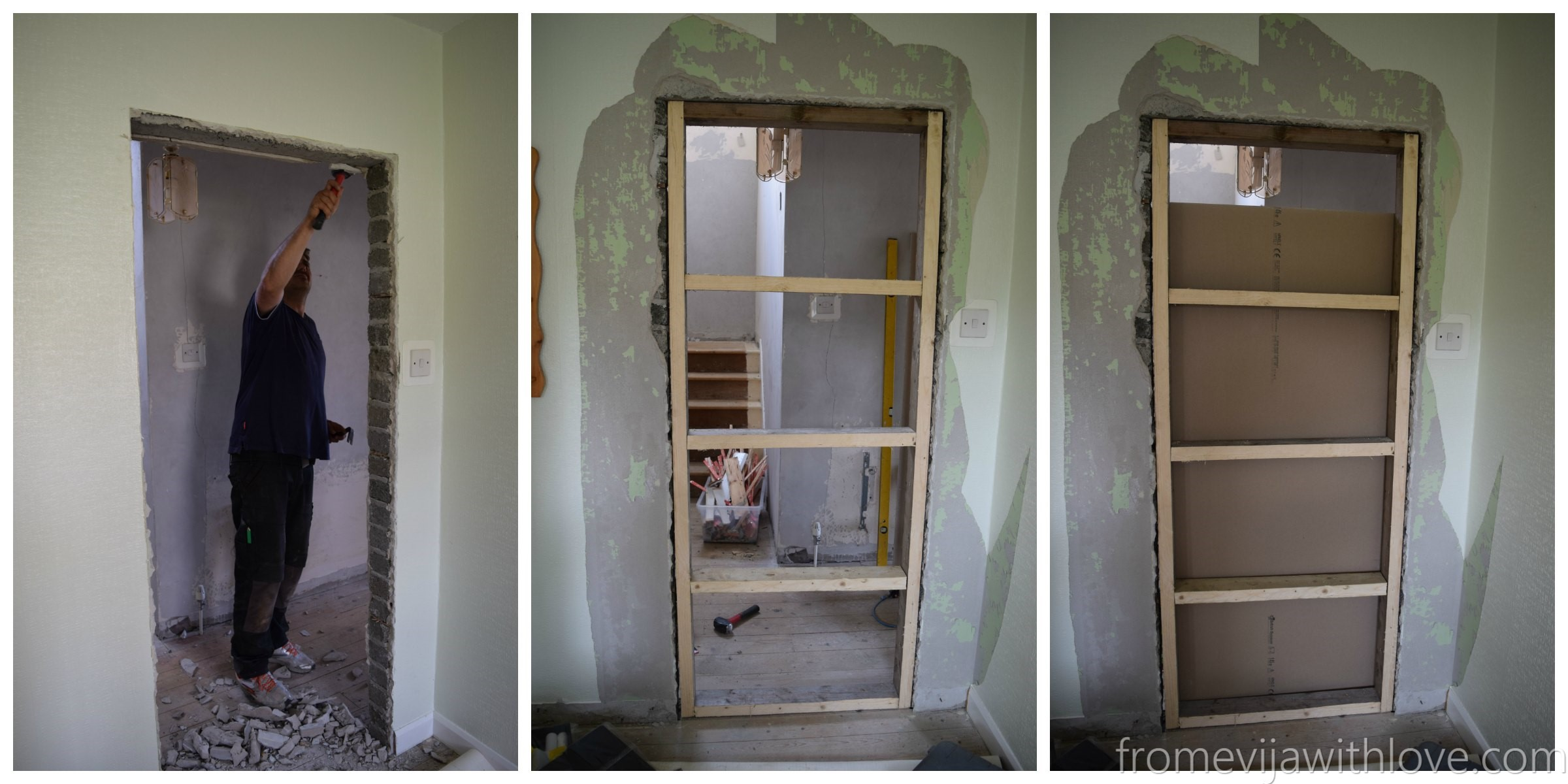 How To Close Off A Doorway And Turn It Into A Solid Wall