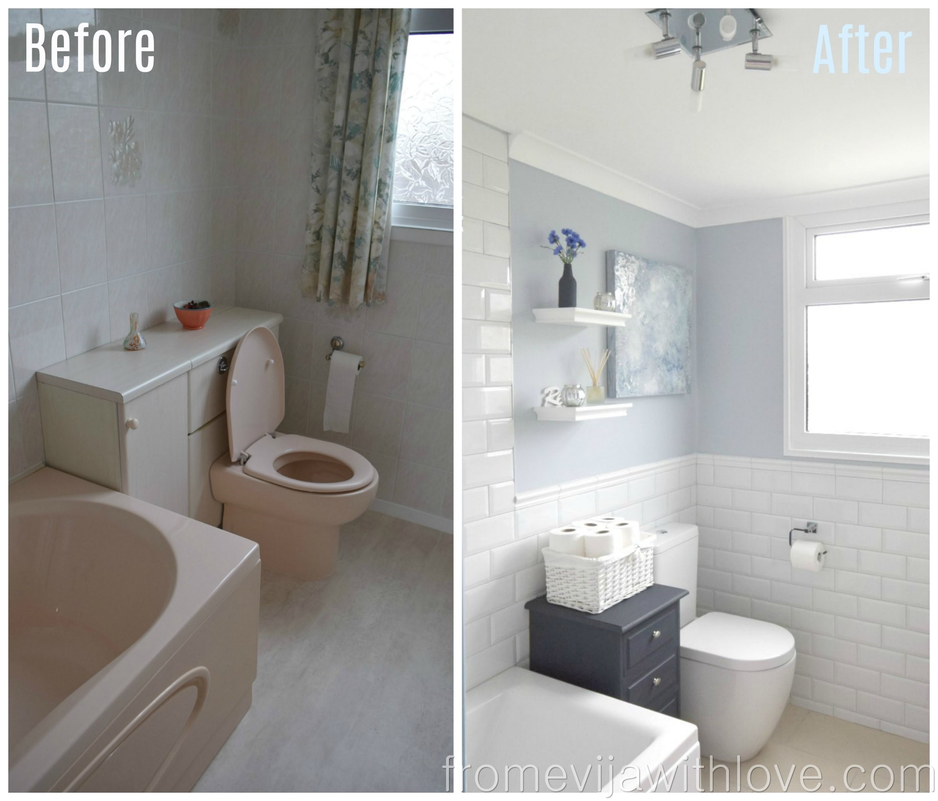 Bathroom Makeover - Part 2 - The Big Reveal! - From Evija with Love