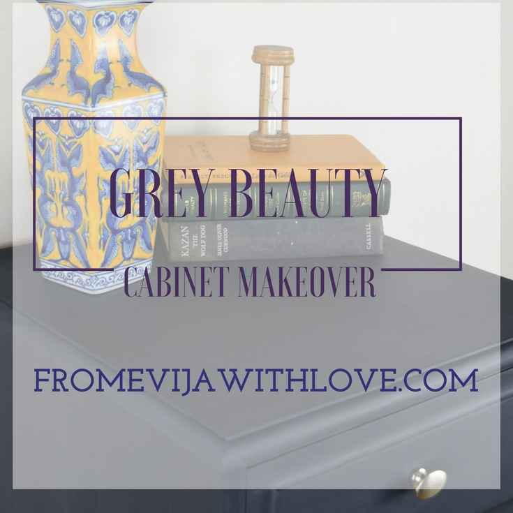 Dark Beauty - Plain Bedside Cabinet Makeover