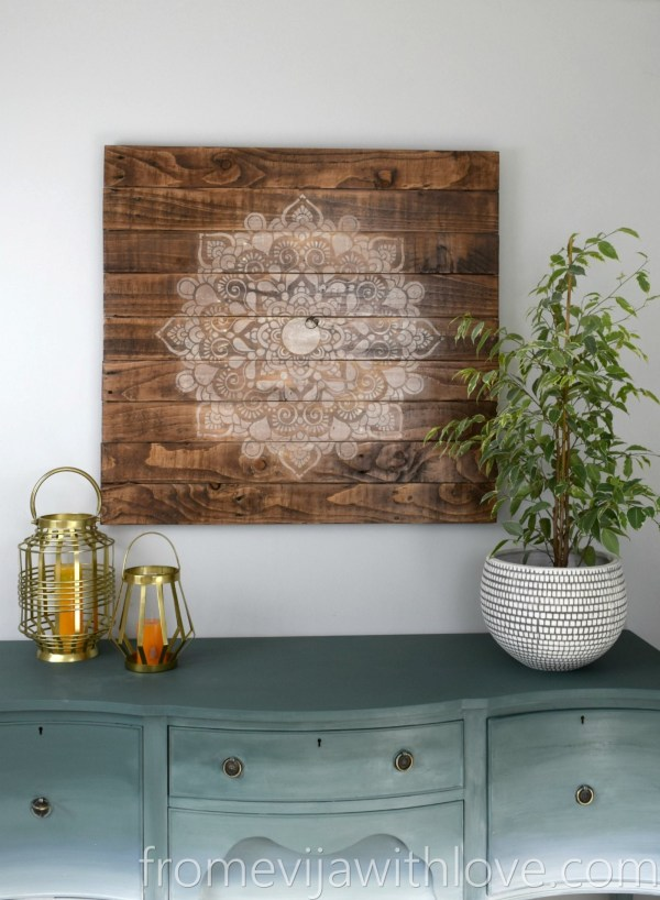 Create Beautiful Wall Art Pallets And Mandala