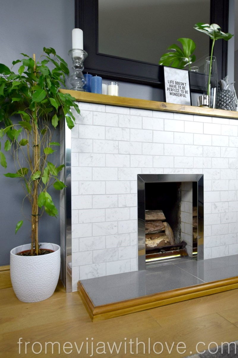 REVEAL- How We Modernised Our Old Stone Fireplace on a Budget