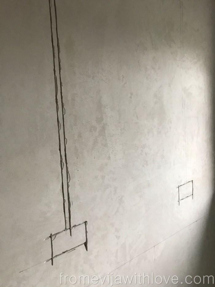 Kitchen renovation chasing electrics