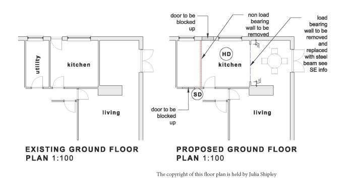kitchen renovation - floor plans and design