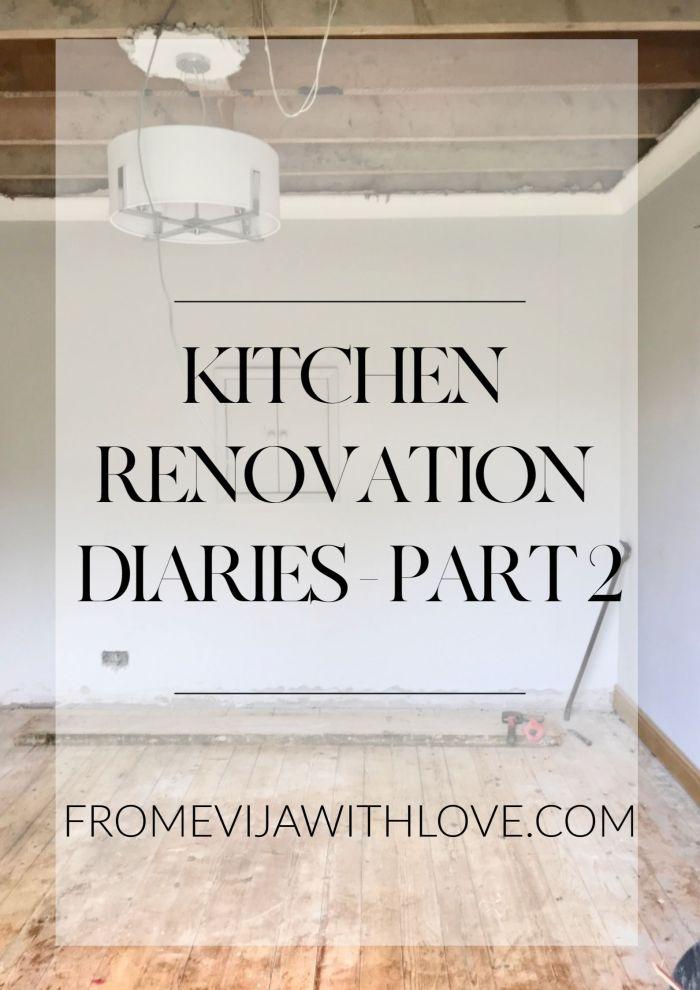 Kitchen Renovation Diaries - building work