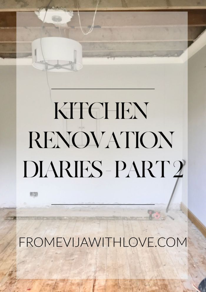 Kitchen Renovation Diaries - building work