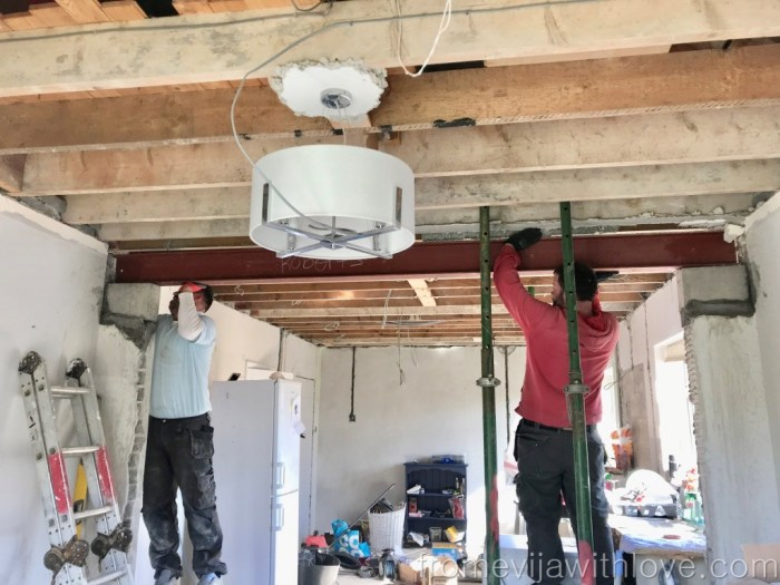 Kitchen Renovation Diaries - load bearing wall - installing beam