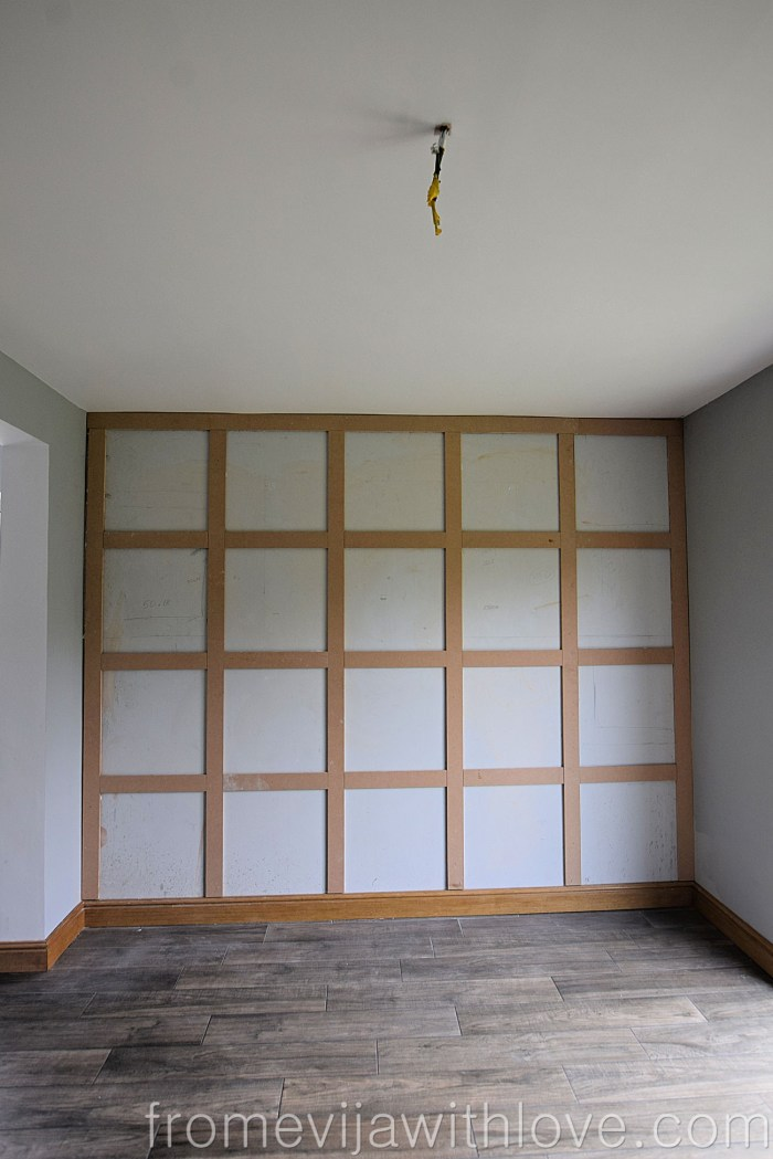 finished wall with mdf panels